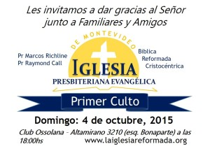 Primer Culto Folleto
