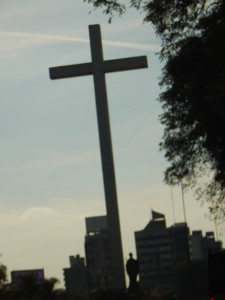 Picture of a cross in Montevideo